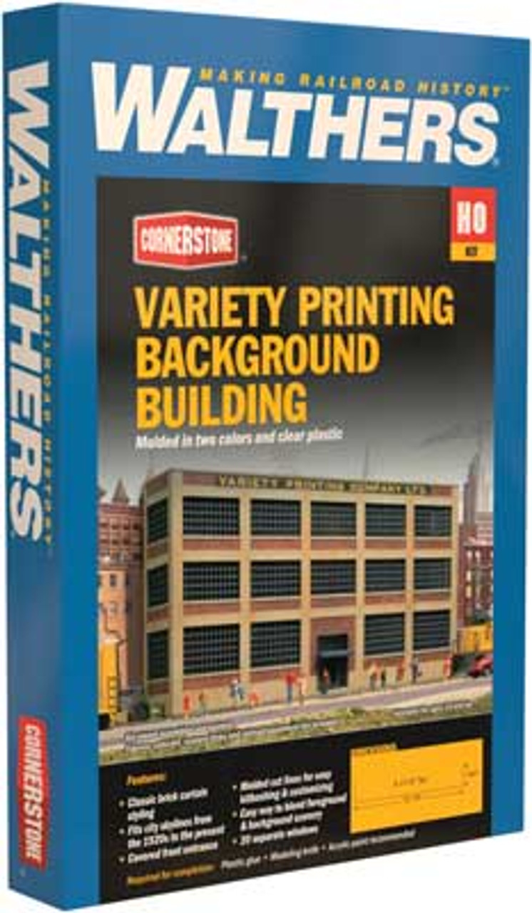 3161 Walthers Variety Printing  Background Building (Scale=HO) Cornerstone Part#933-3161