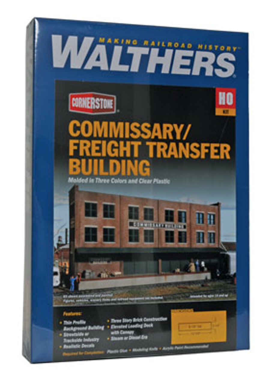 3173 Walthers Commissary-Freight Transfer Background Building (Scale=HO) Cornerstone Part#933-3173