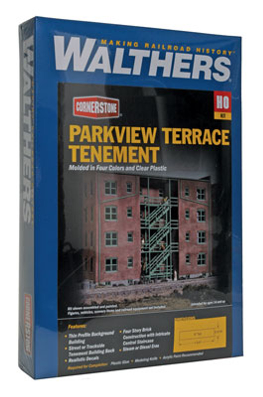 3177 Walthers Parkview Terrace Background Building (Scale=HO) Cornerstone Part#933-3177