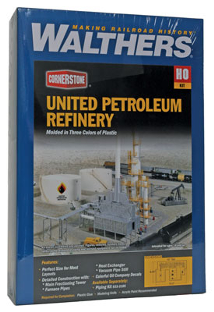 Walthers 933-3705 UNITED-PETROLEUM-REFINING-KIT  (Scale=HO) Cornerstone Part#933-3705