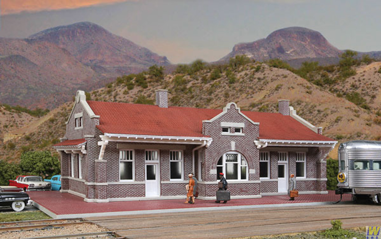 Walthers 933-4055-BRICK-MISSION-STYLE-DEPOT  (Scale=HO) Cornerstone Part#933-4055