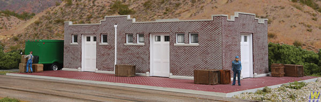 Walthers 933-4056 Brick Mission-Style Santa Fe Freight House (Scale=HO) Cornerstone Part#933-4056