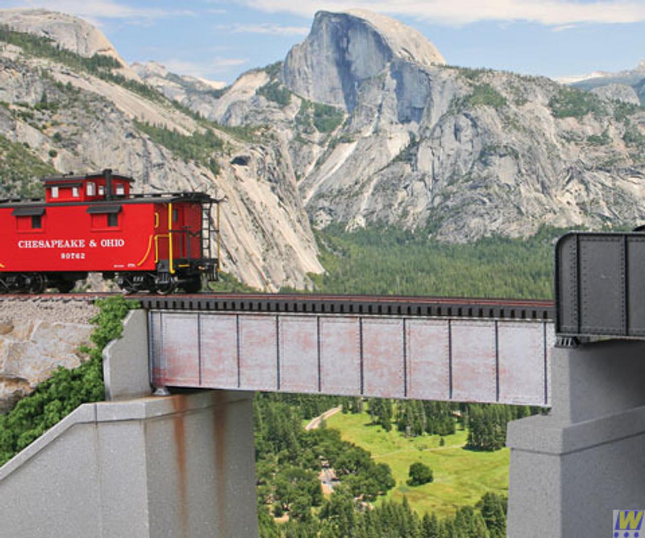 Walthers 933-4506 50' Single-Track Railroad Deck Girder Bridge - Kit  (Scale=HO) Cornerstone Part#933-4506