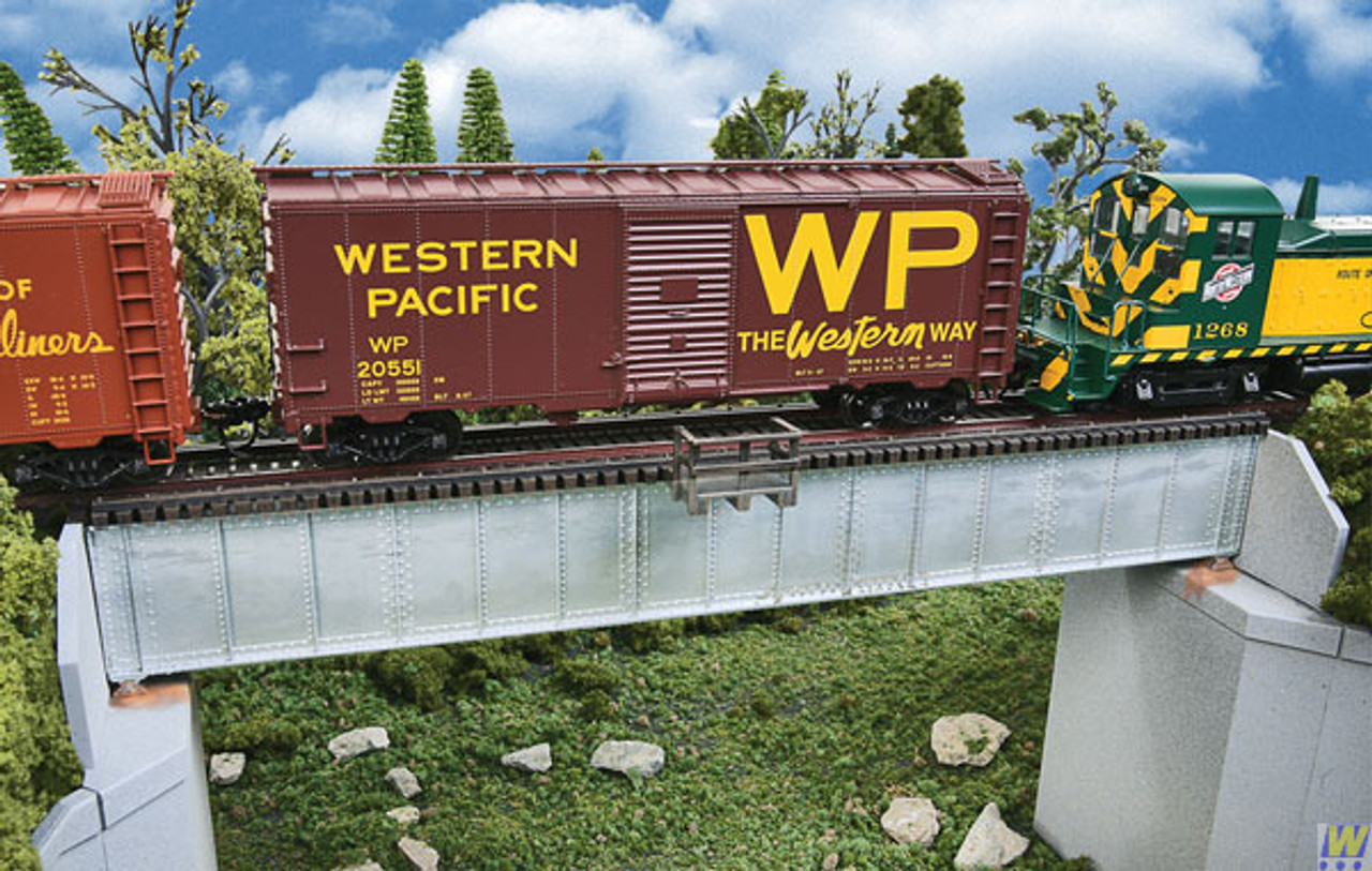 Walthers 933-4507-70-SGL-TRK-DECK-GRD-BRG  (Scale=HO) Cornerstone Part#933-4507