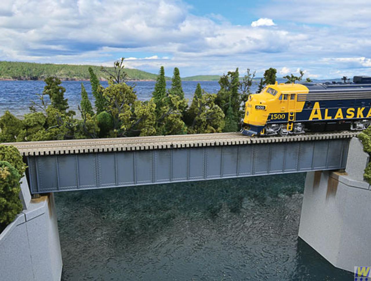 Walthers 933-4508 90' Single-Track Railroad Deck Girder Bridge - Kit  (Scale=HO) Cornerstone Part#933-4508