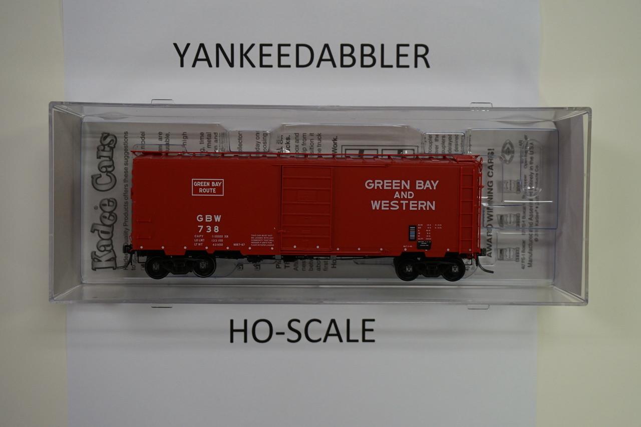 4126 Kadee / 40' Boxcar GB&W #738  (HO Scale) Part # 380-4126