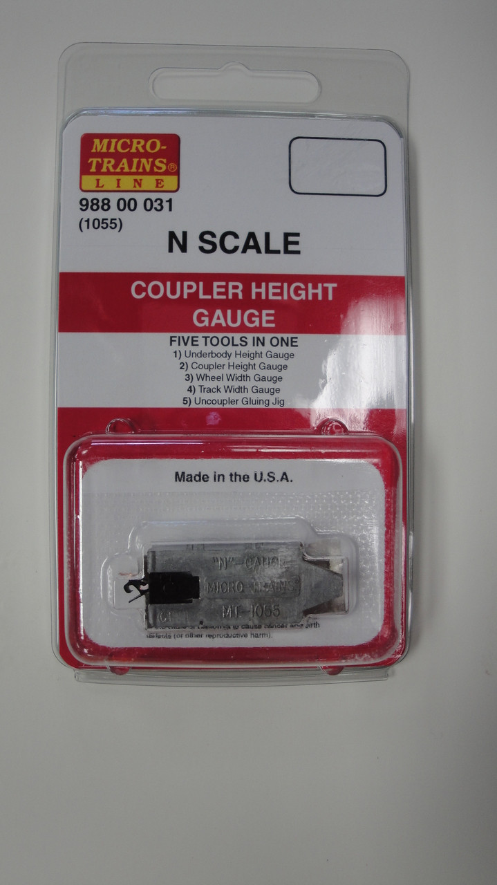 99800031 MICRO TRAINS {99800031} COUPLER HEIGHT GAUGE (1055) 5 TOOLS- YANKEEDABBLER