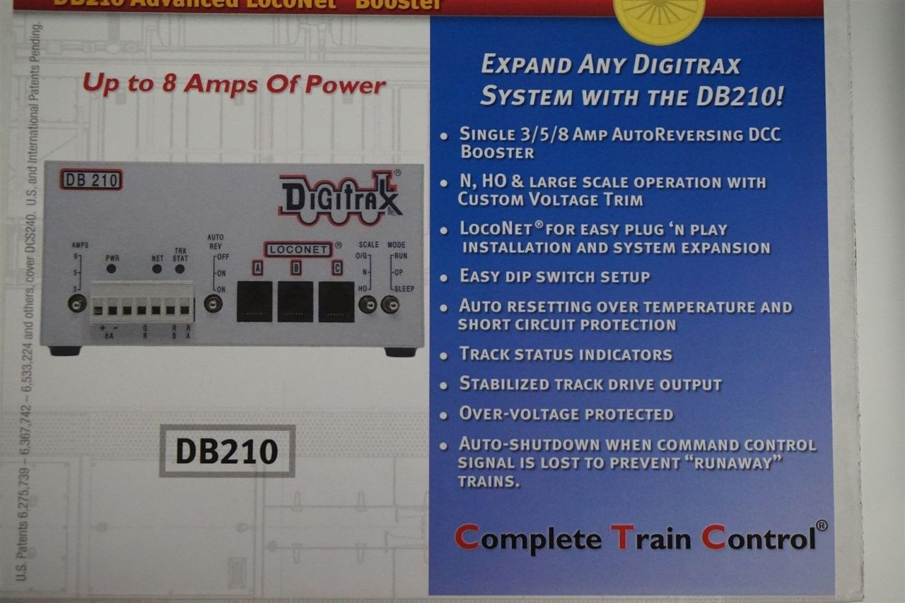 Digitrax DB210 Single AutoReverse Booster  (Scale = ALL)  Part # 245-DB210