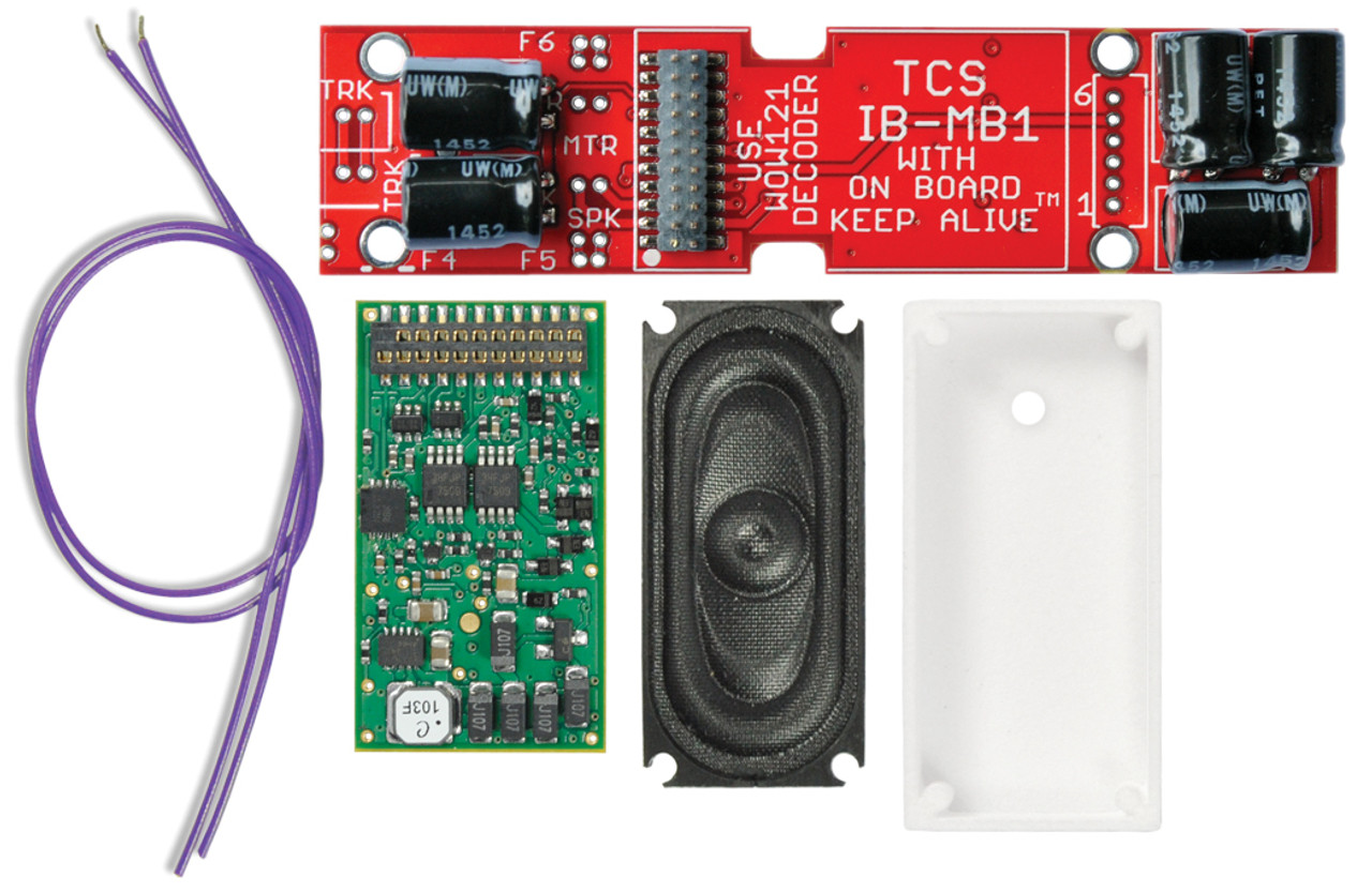 NEW WOWKit Included in this WOWKit: 1x WOW121-Diesel Decoder 1x IB-MB1-NC WOWMotherboard with a built-in Keep-Alive™ 1x 35mm x 16mm WOWSpeaker (with speaker wires) 1x UNIV-SH1-C Speaker Housing  This kit fits the following Bachmann HO-Scale Locomotives:  EMD GP30  NOTE: This product includes all of the electronic components required for a complete installation. A Soldering Iron, Solder, and Tape (for mounting) are required and NOT included.
