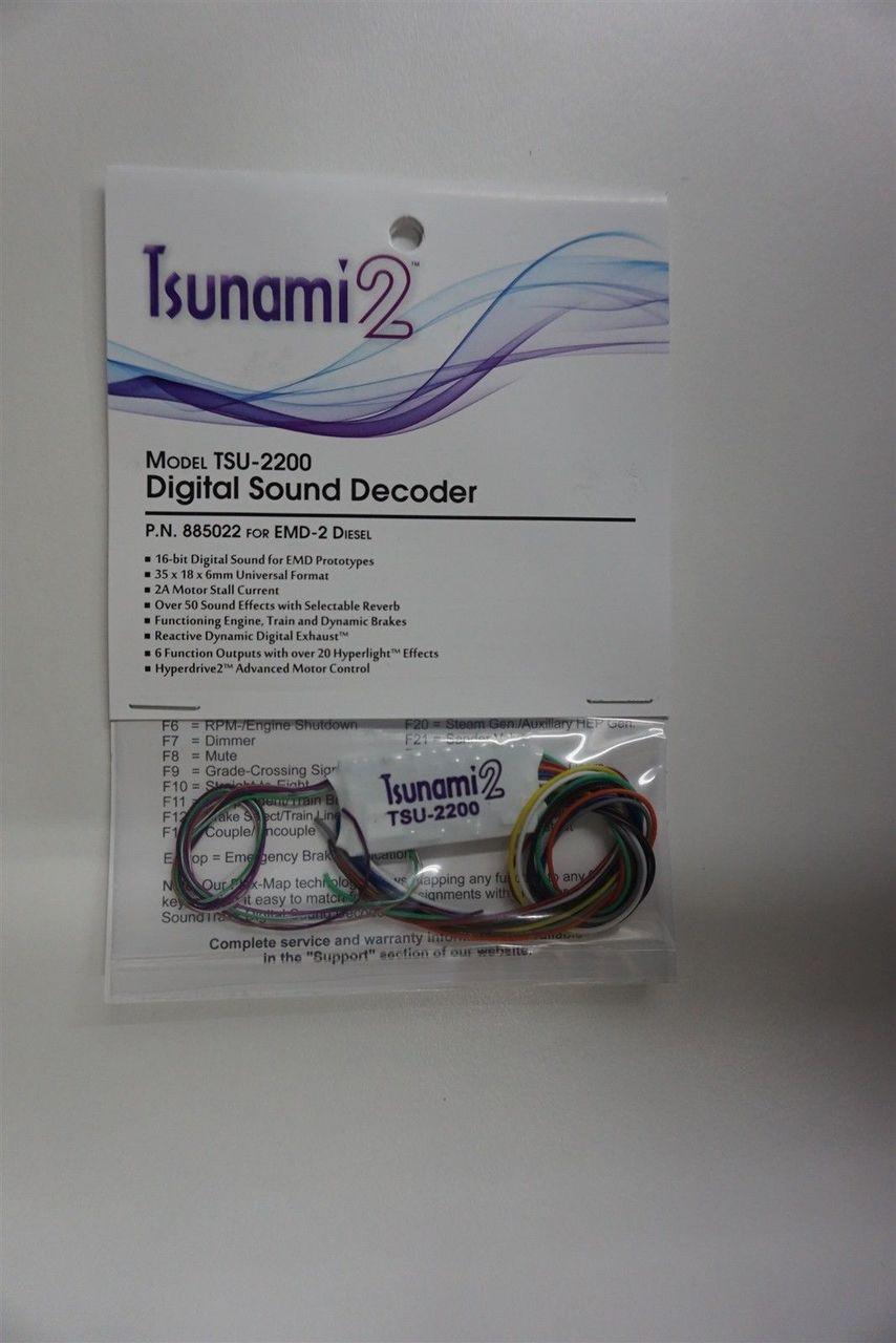 885022 Soundtraxx / Tsunami 2 2200 EMD-2 2AMP for EMD Diesel Scale =HO part# = 678-885022