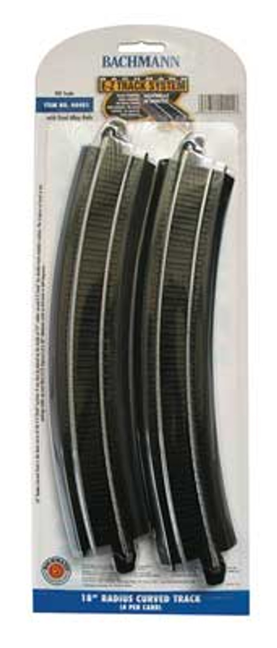 """44401 Bachmann / E-Z Track 18"""" Radius Curved Track 4 Pieces (Scale=HO) 160-44401"""