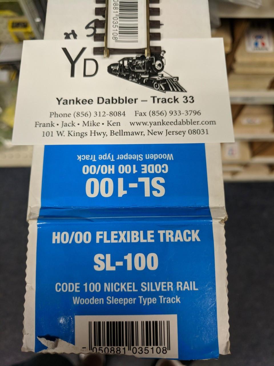 SL-100-25 Peco / SL-100-25 pieces HO Flex Track 36 in Wood Tie Nickel Silver Code 100  each (SCALE=HO ) P Part # PCO-SL-100-25