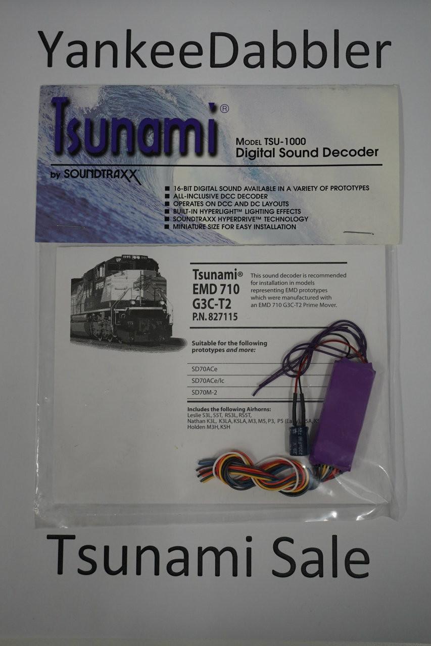 827115 Soundtraxx / Tsunami  TSU-1000 827115 EMD 710 G3C-T2 Diesel Scale = All Part # = 678-827115