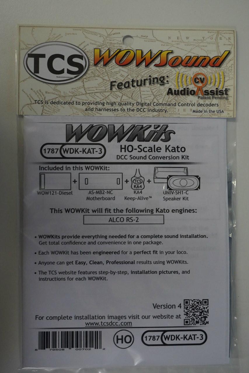 1787 TCS TRAIN CONTOL SYSTEMS / KATO WDK-KAT-3 WOW DIESEL Version 4 CONVERSION KIT - HO Scale  YankeeDabbler Part # 745-1787
