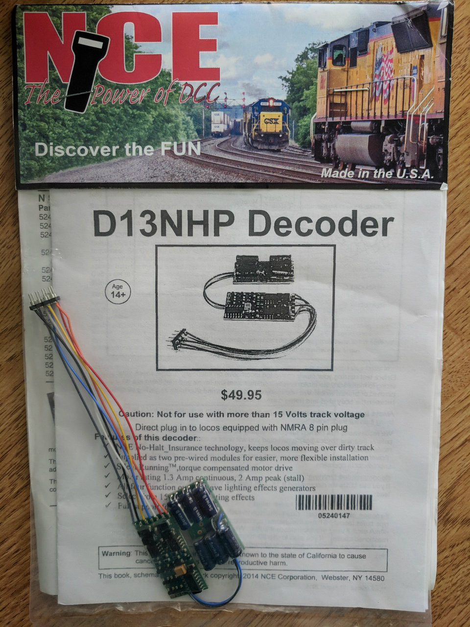 147 NCE /D13NHP DECODER   PART # =  NCE147