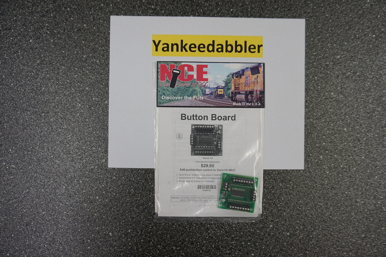 152 NCE /  Button Board -- For Use w/Switch8-M (SCALE=ALL) Part # = NCE152