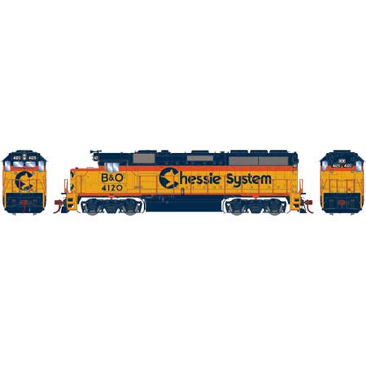 ATHG65756 GP40-2 B&O - Chessie System #4120 with DCC & Sound Tsunami2  (SCALE=HO)  Part #ATHG65756