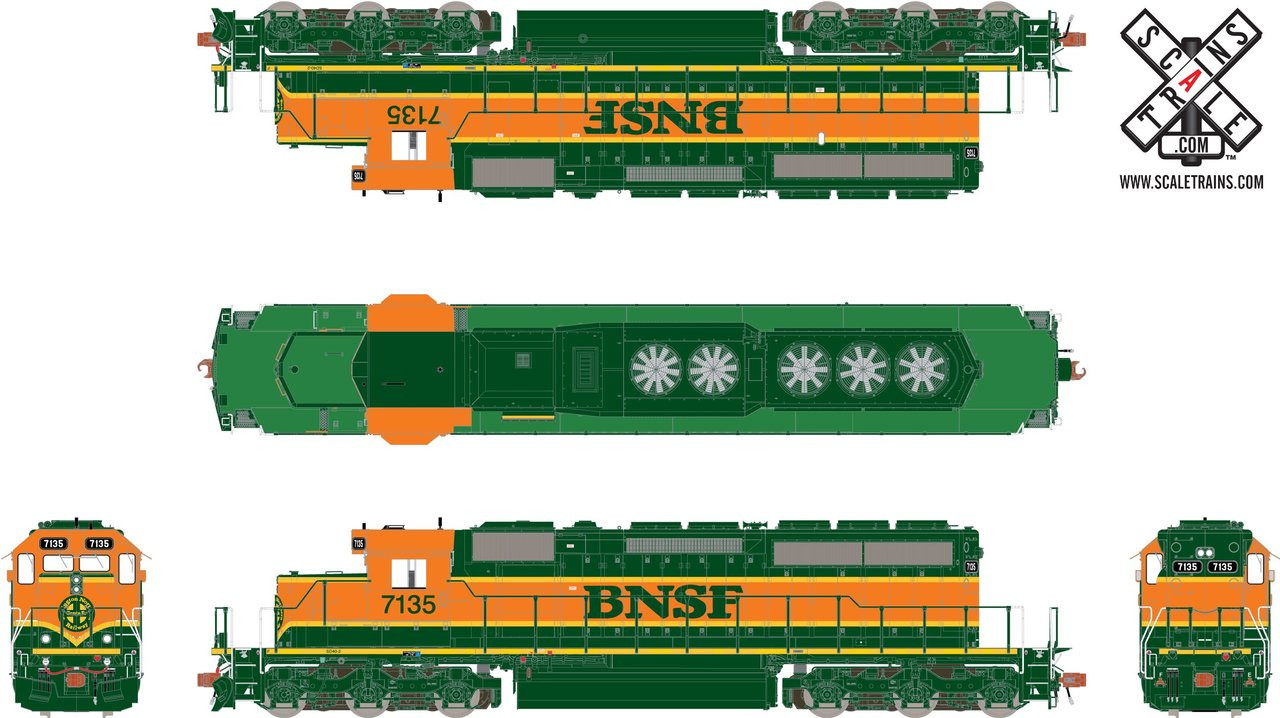 SXT30705 SD40-2 BNSF #7135 ESU LokSound DCC & Sound Rivet Counter ScaleTrains  (SCALE=HO)  Part # 8003-SXT30705