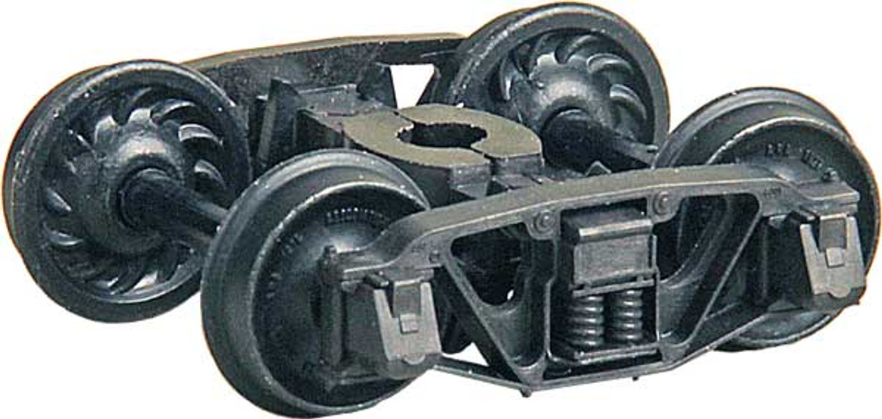 """571 Kadee / Andrews (1898) Trucks """"HGC"""" Two Piece Fully Equalized Self Centering Trucks 1 Pair /  (HO Scale) Part # 380-571"""
