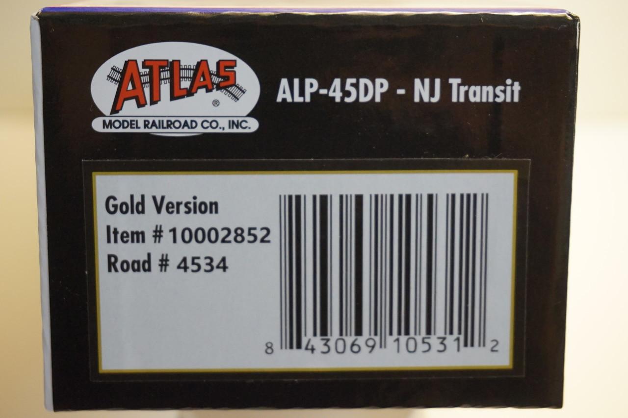Atlas 10002852 ALP-45DP NJ Transit #4534 (100th ALP Edition) Gold - DCC & Sound (HO Scale) 150-10002852