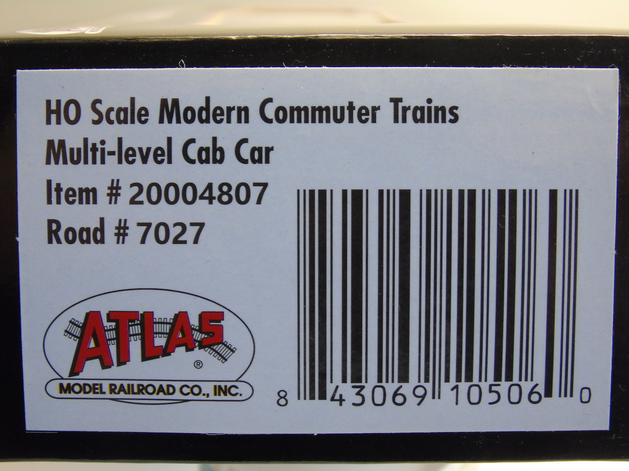 Atlas 20004807 NJ Transit Modern Commuter Cab Car #7027 (HO Scale) 150-20004807