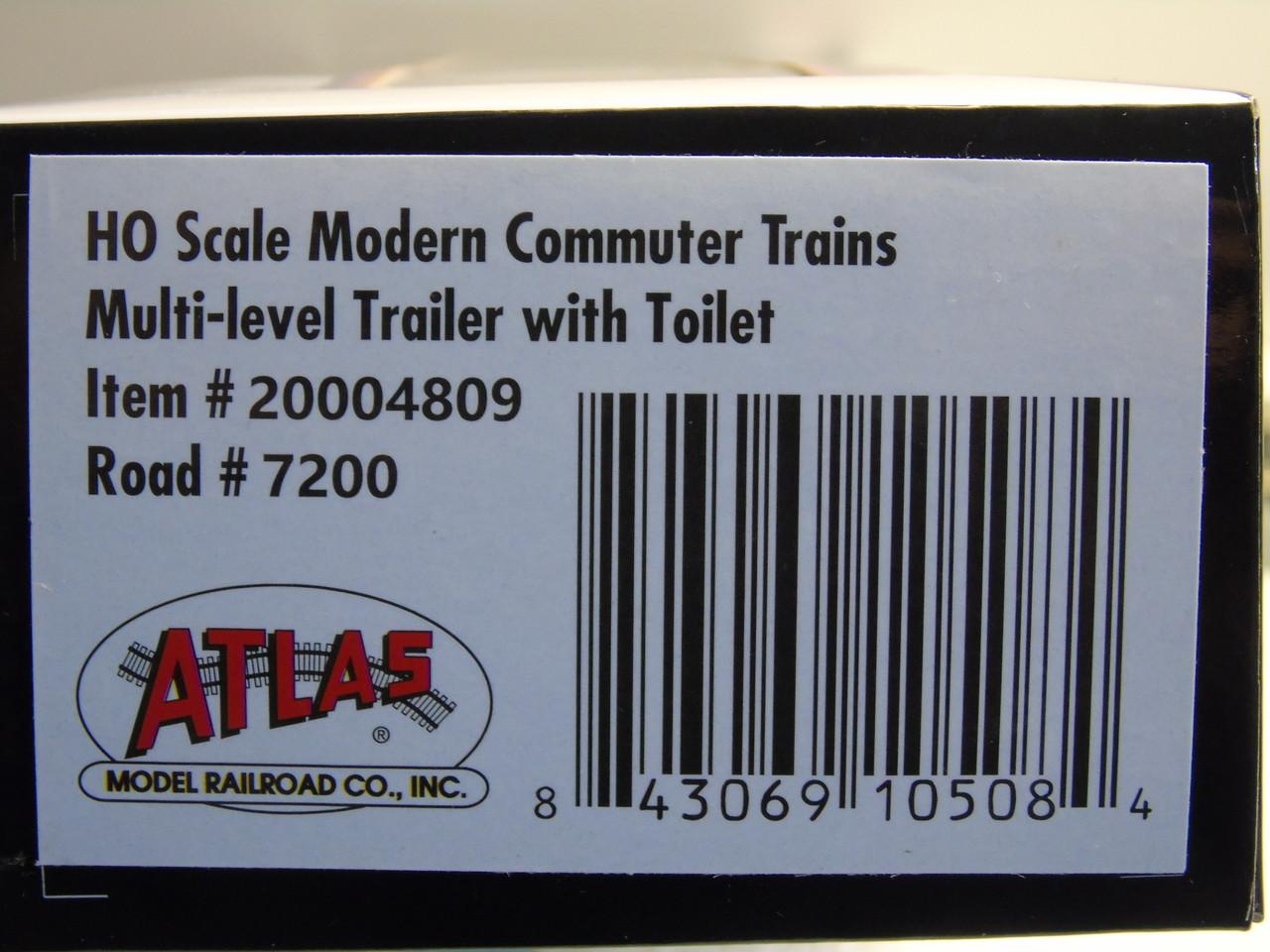 Atlas 20004809 NJ Transit Multi-Level Trailer with Toilet #7200 (HO Scale) 150-20004809