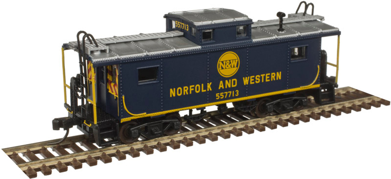 ATLAS 20004724 NE-6 Caboose N&W Norfolk & Western #557704 (SCALE=HO) Part #  150-20004724