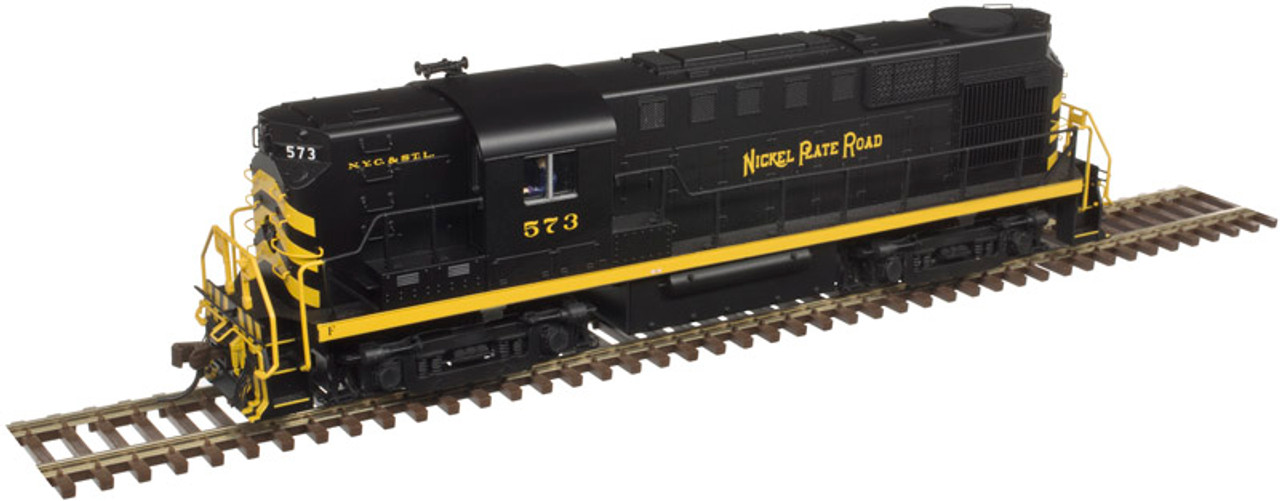 10002888 Atlas Gold / RS-11 NKP Nickel Plate Road #573 ESU LokSound & DCC (SCALE=HO)  Part # 150-10002888