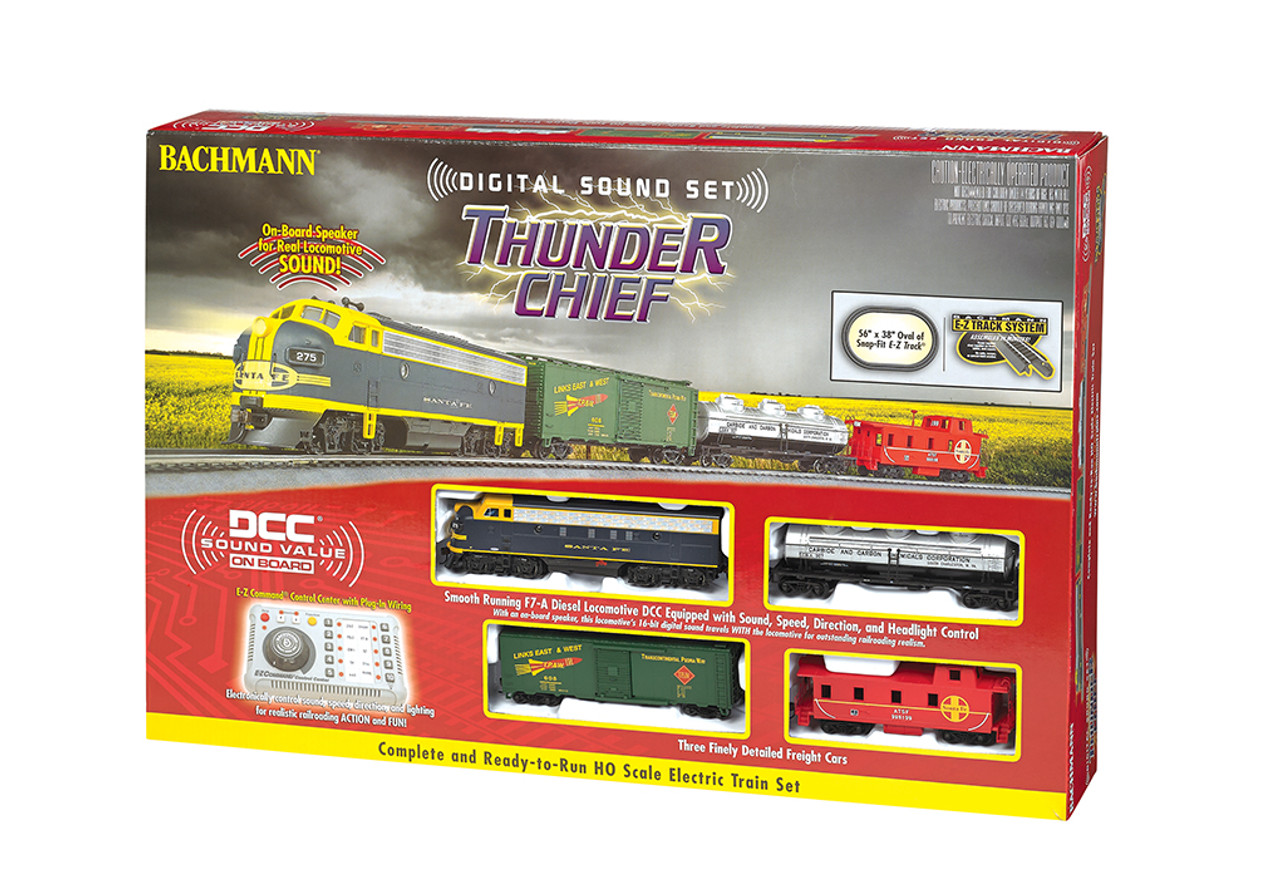 826 Bachmann / Train Set -- Thunder Chief Set DCC & Sound (SCALE=HO) Part#=160-826