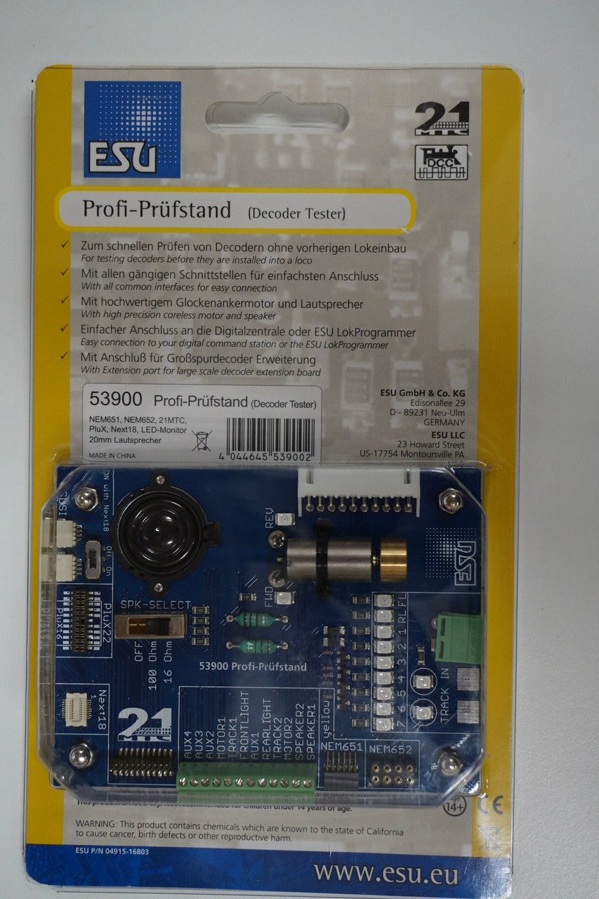 ESU 53900 LokSound Decoder Tester (Scale=ALL) 397-53900