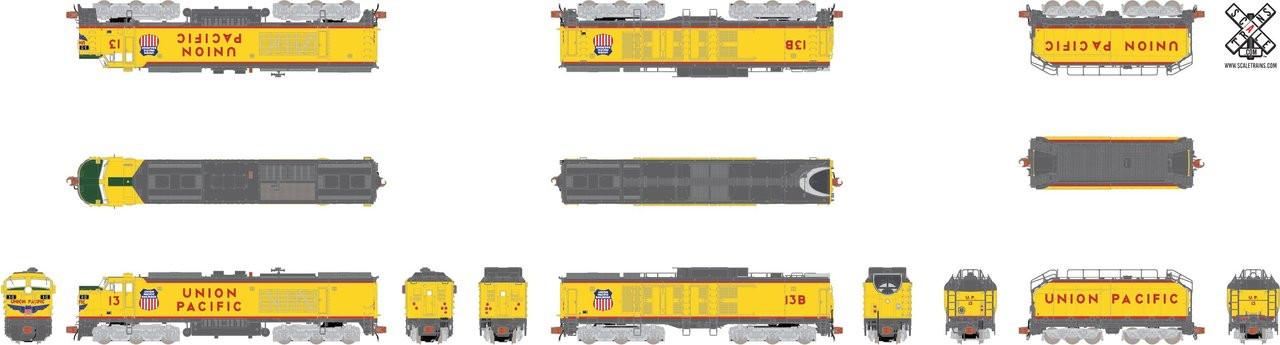 """SXT30592 GTEL 8500 HP """"Big Blow"""" Turbine UP Union Pacific #13 ESU LokSound DCC & Sound Rivet Counter ScaleTrains  (SCALE=N)  Part # 8003-SXT30592"""