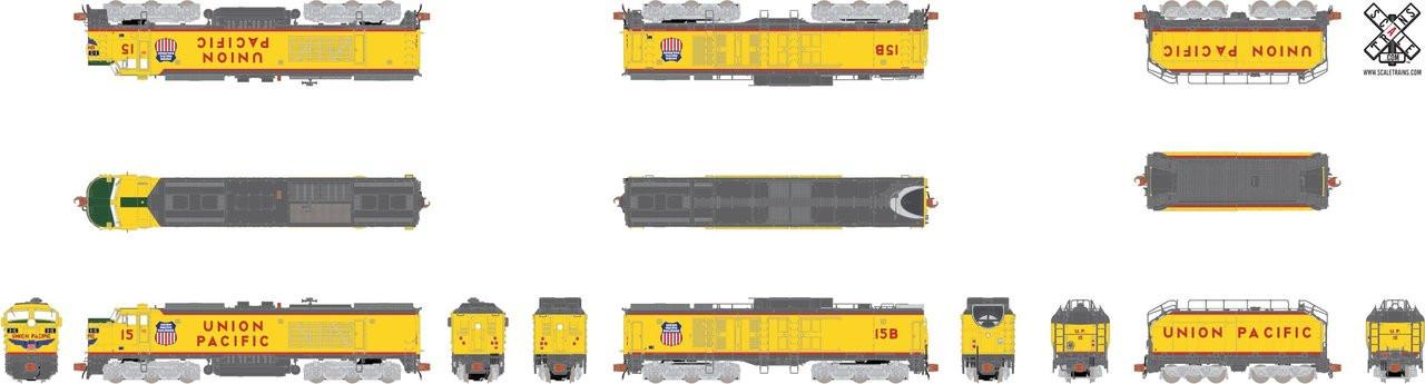 """SXT30594 GTEL 8500 HP """"Big Blow"""" Turbine UP Union Pacific #15 ESU LokSound DCC & Sound Rivet Counter ScaleTrains  (SCALE=N)  Part # 8003-SXT30594"""