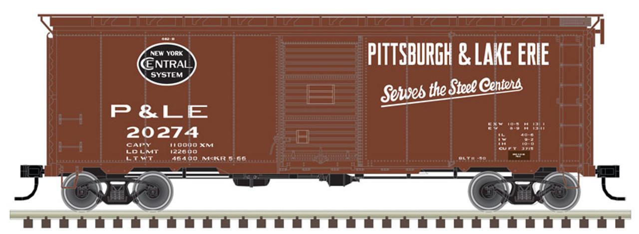 ATLAS 20004776 40' Postwar Boxcar Pittsburgh & Lake Erie - P&LE #20444 (SCALE=HO) Part # 150-20004776