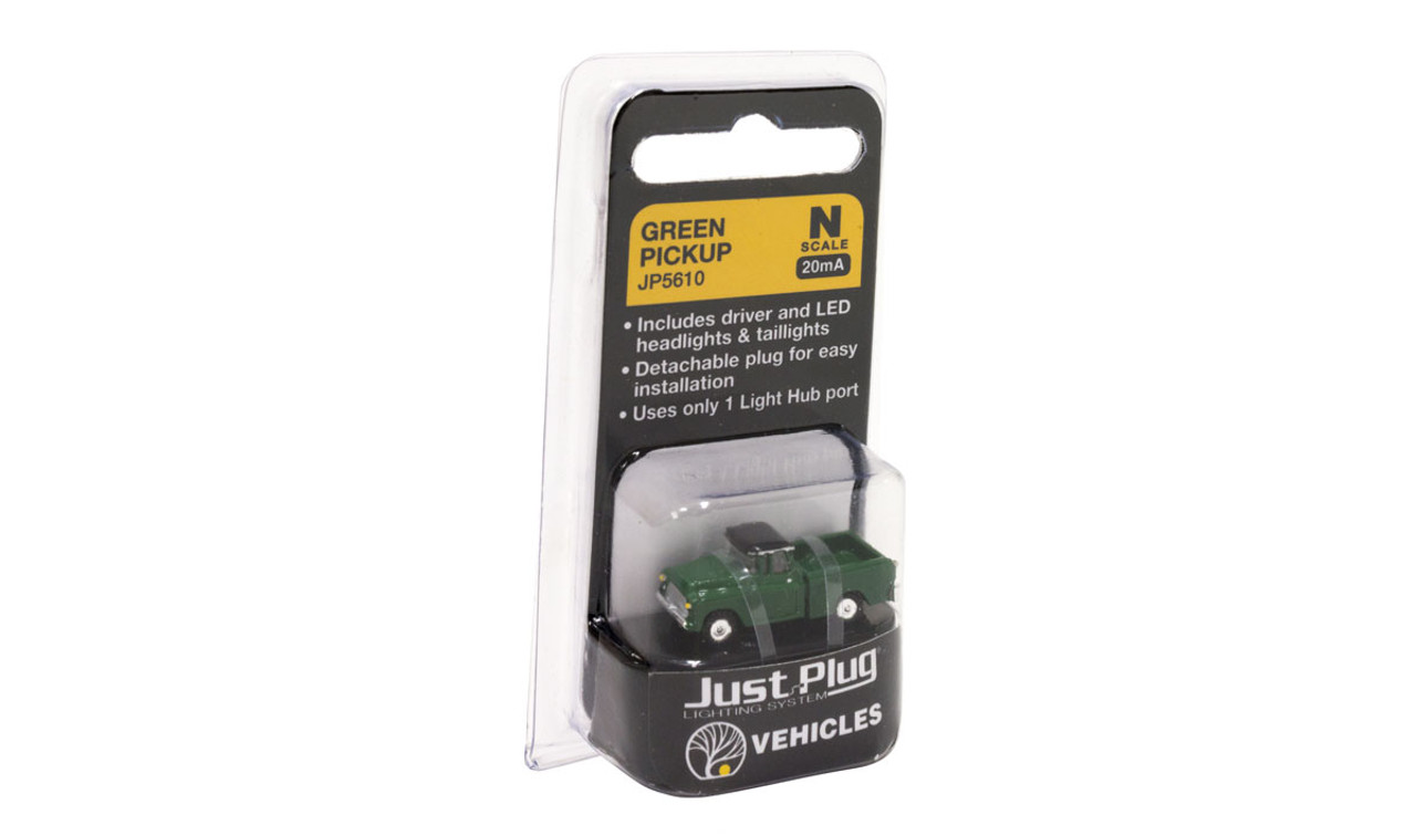 Woodland Scenics 5610 Green Pickup - Just Plug  (SCALE=N)  Part # 785-5610