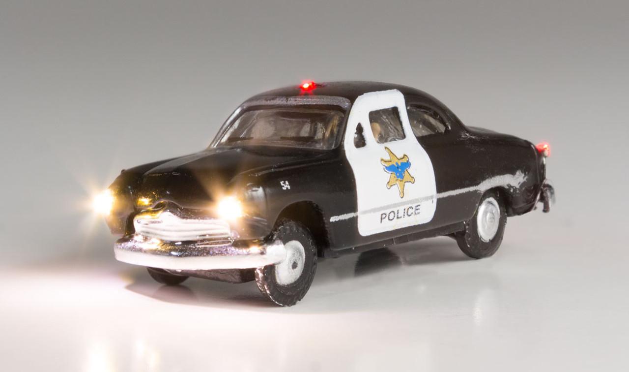 Woodland Scenics 5613 Police Car - Just Plug  (SCALE=N)  Part # 785-5613