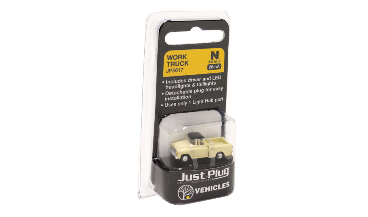 Woodland Scenics 5617 Work Truck - Just Plug  (SCALE=N)  Part # 785-5617