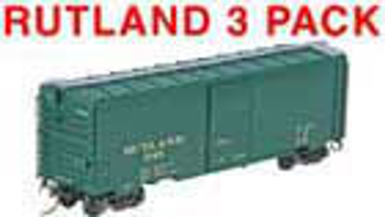 Kadee 4313 PS 40' Boxcar RUT - Rutland (3 Pack) #178, 248 & 293  (HO Scale) Part # 380-4313