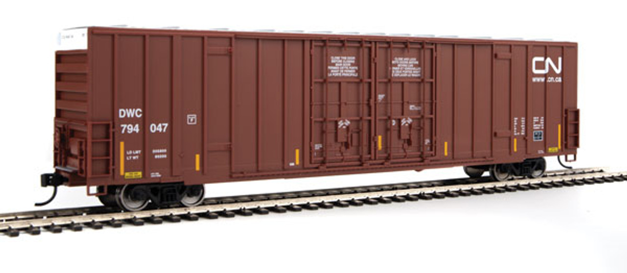 Walthers 910-2924 60' High Cube Plate F Boxcar CN - Canadian National #794047 (SCALE=HO)  Part #910-2924