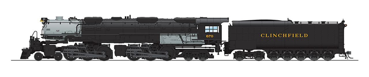 BLI 5827 Challenger 4-6-6-4 Clinchfield #670 Broadway Limited  (SCALE=HO)  Part # 187-5827