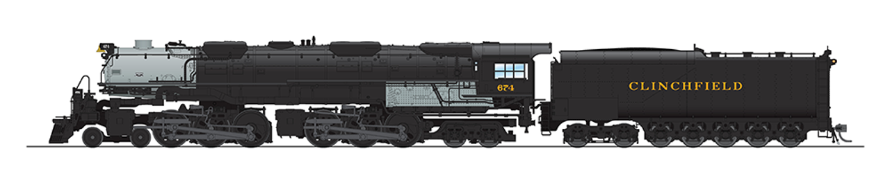 BLI 5828 Challenger 4-6-6-4 Clinchfield #674 Broadway Limited  (SCALE=HO)  Part # 187-5828