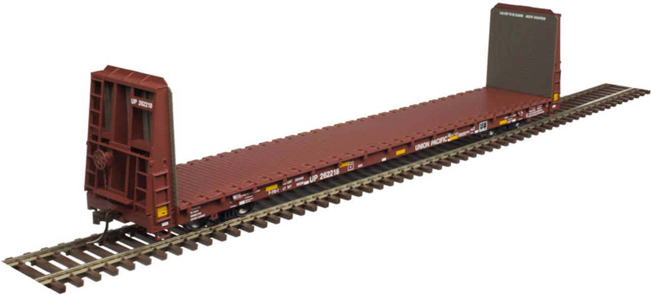 ATLAS 20005082 62' Bulkhead Flat Car - UP - Union Pacific w/Stripes #261218 (SCALE=HO) Part # 150-20005082