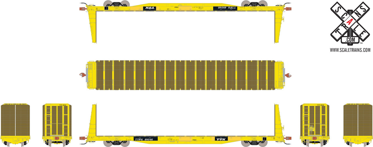 Scaletrains {SXT31540} BSC F68AH Bulkhead Flatcar - TTX - TTPX #81046 (Scale=HO) Part#8003-SXT31540