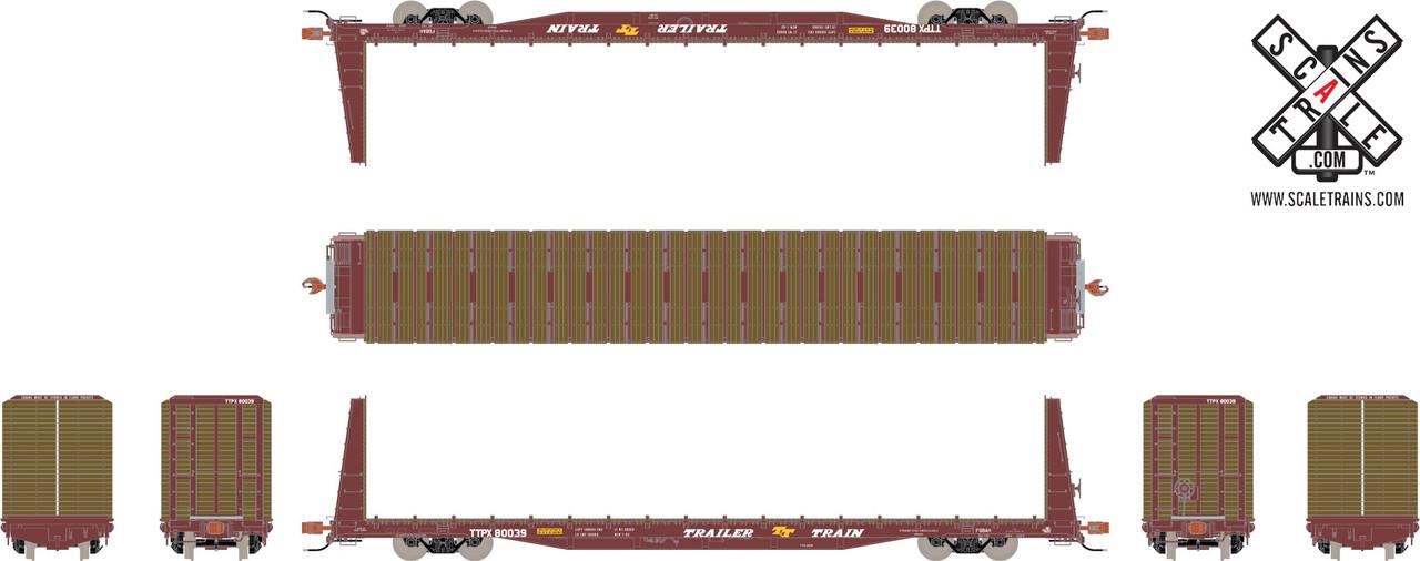 Scaletrains {SXT31159} BSC F68AH Bulkhead Flatcar - Trailer Train - TTPX #80084 (Scale=HO) Part#8003-SXT31159