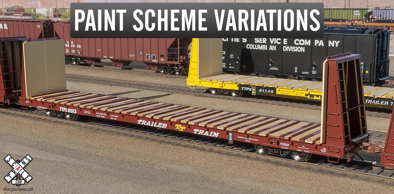 Scaletrains {SXT31160} BSC F68AH Bulkhead Flatcar - Trailer Train - TTPX #80095 (Scale=HO) Part#8003-SXT31160