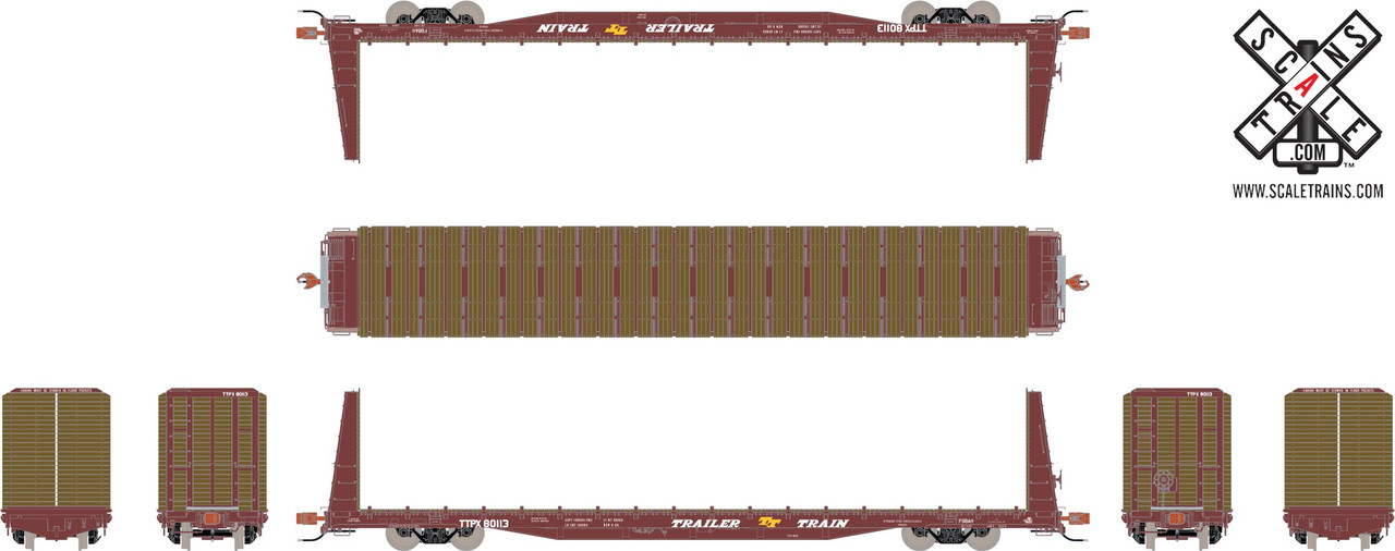 Scaletrains {SXT31161} BSC F68AH Bulkhead Flatcar - Trailer Train - TTPX #80113 (Scale=HO) Part#8003-SXT31161