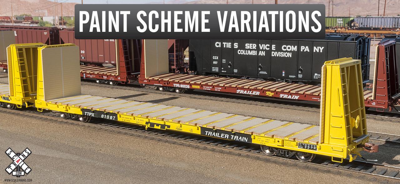 Scaletrains {SXT31166} BSC F68AH Bulkhead Flatcar - Trailer Train - TTPX #81112 (Scale=HO) Part#8003-SXT31166