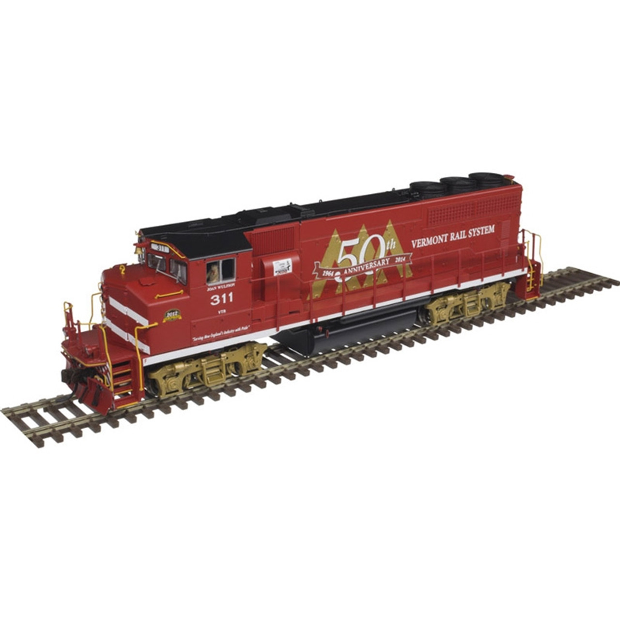 ATLAS 10002725 EMD GP40-2W - VTR - Vermont Railway #311 Gold - DCC & Sound (SCALE=HO) Part # 150-10002725