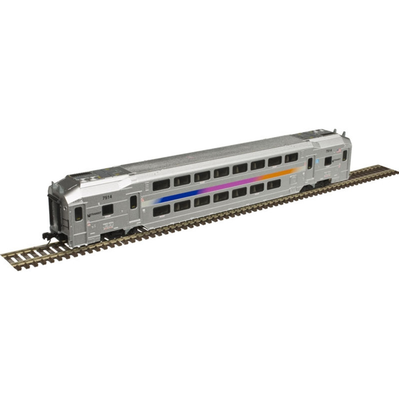 ATLAS 40004052 NJ Transit - Multi-Level Trailer with out Toilet #7514 (SCALE=N) Part # 150-40004052