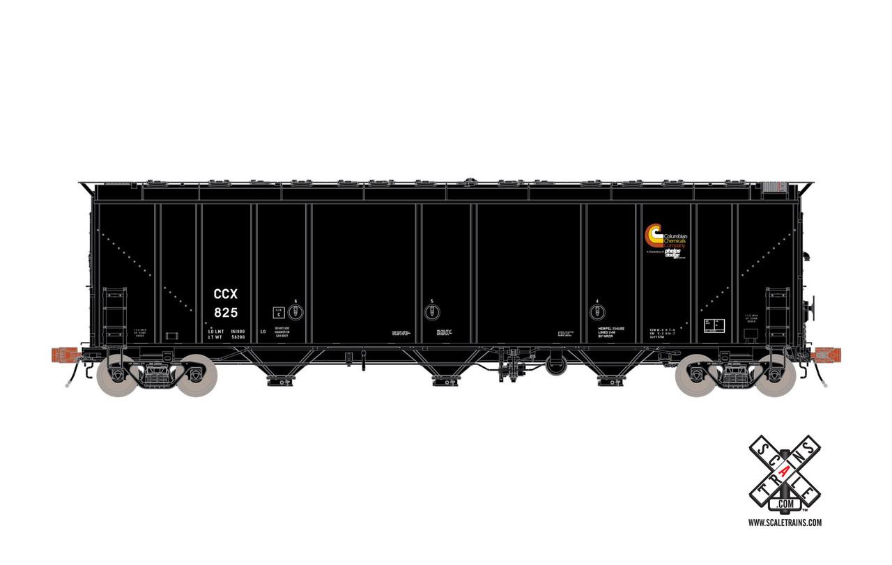 Scaletrains {SXT30313} Thrall 5750cf Carbon Black Car - CCX - Columbia Chemicals Co. #851 (Scale=HO) Part#8003-SXT30313