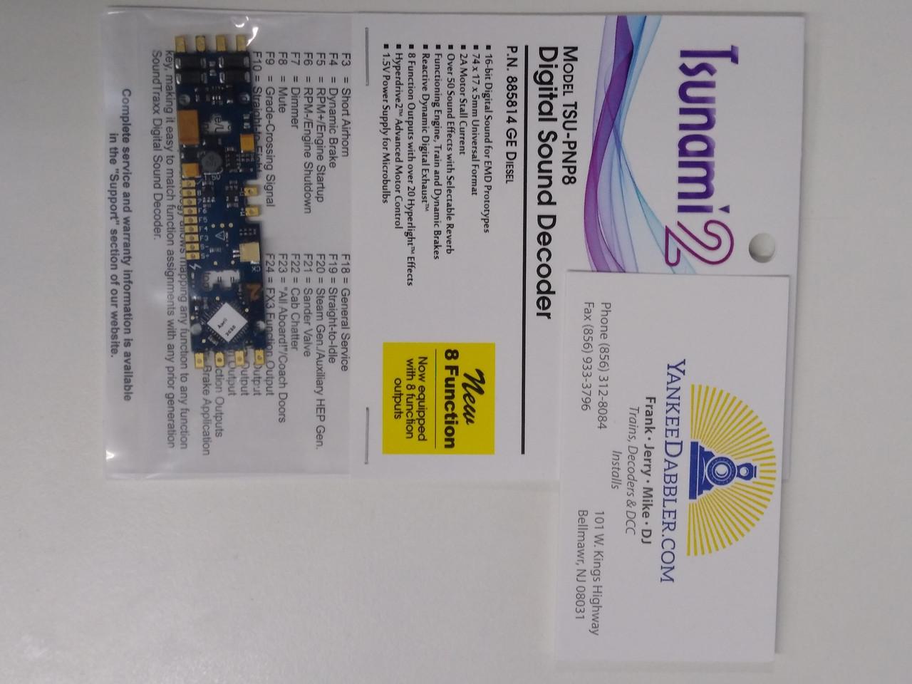 Sountraxx 885814 Tsunami 2 Diesel GE Set, 8-Function, Plug and Play TSU-PNP (2 Amp) Digital Sound Decoders   (Scale=HO) Part # = 678-885814